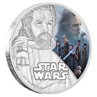 Niue - 2 NZD Star Wars Episode VIII Luke Skywalker - 1 Oz Silber PP