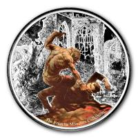 Ghana - 5 Cedis Frazetta Werewolf vs. The Count 2017 - 1 Oz Silber