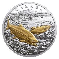Kanada - 20 CAD Sea to Sea Lachs 2017 - 1 Oz Silber