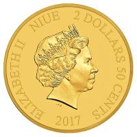 Niue - 2,5 NZD Disney Mickey Mouse Christmas Carol 2017 - 0,5g Gold
