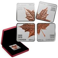 Kanada - 12 CAD 30 Jahre Maple Leaf (Puzzle) 2018 - Silber PP