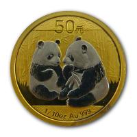 Wallstreet Collection - Panda 2009 Platiniert - 1/10 Oz Gold
