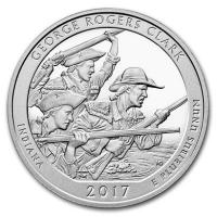 USA - 0,25 USD Indiana Georg Rogers Clark 2017 - 5 Oz Silber
