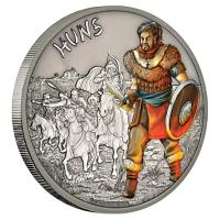 Niue - 2 NZD Warriors of History Hunnen 2017 - 1 Oz Silber