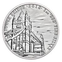 Großbritannien - 2 GBP Landmarks of Britain Tower Bridge 2018 - 1 Oz Silber