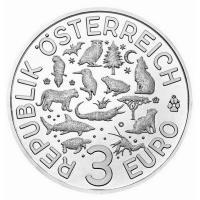 österreich 3 Euro Tier Taler Wolf 2017 Münze Im Online Shop Www
