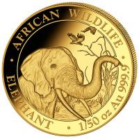 Somalia - 20 Shillings Elefant 2018 - 1/50 Oz Gold