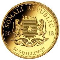 Somalia - 50 Shillings Elefant 2018 - 1/25 Oz Gold