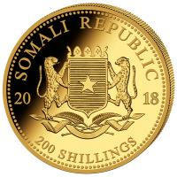Somalia - 200 Shillings Elefant 2018 - 1/4 Oz Gold