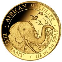 Somalia - 500 Shillings Elefant 2018 - 1/2 Oz Gold