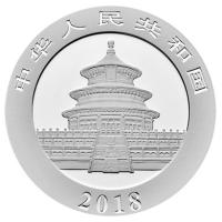 China - 10 Yuan Panda 2018 - 30g Silber Color