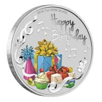 Australien - 1 AUD Happy Birthday 2018 - 1 Oz Silber