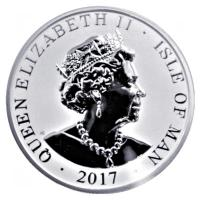 Isle of Man - 1 Angel 2017 - 1 Oz Silber Reverse Proof