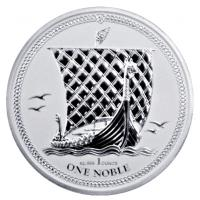 Isle of Man - 1 One Noble 2017 - 1 Oz Silber Reverse Proof