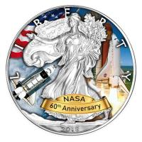 USA - 1 USD Silver Eagle Space Shuttle 2018 - 1 Oz Silber Color