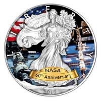 USA - 1 USD Silver Eagle ISS 2018 - 1 Oz Silber Color