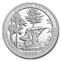 USA - 0,25 USD Michigan Pictured Rocks 2018 - 5 Oz Silber