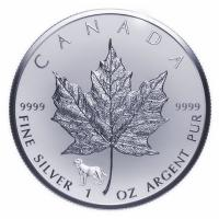 Kanada - 5 CAD Maple Leaf 2018 - 1 Oz Silber Privy Lunar Hund