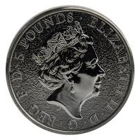 Großbritannien - 5 GBP Queens Beasts Burning Griffin 2017 - 2 Oz Silber Ruthenium