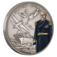 Niue - 2 NZD Battle History Midway - 1 Oz Silber