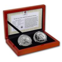 Isle of Man - 1 Angel 2017 - 2*1 Oz Silber Proof Set