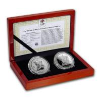 Isle of Man - One Noble 2017 - 2*1 Oz Silber Proof Set