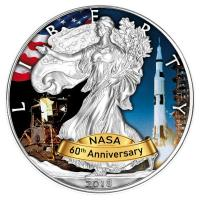 USA - 1 USD Silver Eagle Apollo 2018 - 1 Oz Silber Color