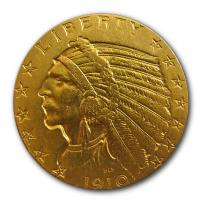 USA - 5 USD Indian Head - 7,52g Goldmünze