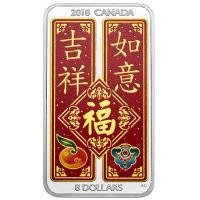 Kanada - 8 CAD Chinese Blessing 2018 - 1,5 Oz Silber