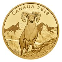 Kanada - 200 CAD Bighorn Sheep Dickhornschaf 2018 - 1 Oz Gold