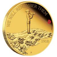 Australien - 25 AUD The ANZAC Spirit We Will Remember Them - 1/4 Oz Gold