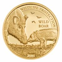 Mongolei - Wildlife Protection Wild Boar 2018 - Gold PP