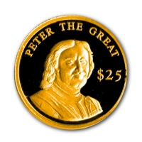 Liberia - 25 Dollar Peter the Great 2000 - Gold PP