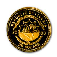 Liberia - 25 Dollar Christopher Columbus 2000 - Gold PP