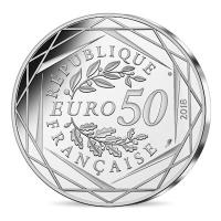 Frankreich - 50 EURO Mickey als Student in Frankreich 2018 - 36,9g Silber Color