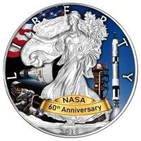 USA - 1 USD Silver Eagle Projekt Gemini 2018 - 1 Oz Silber Color