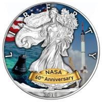 USA - 1 USD Silver Eagle Projekt Mercury 2018 - 1 Oz Silber Color