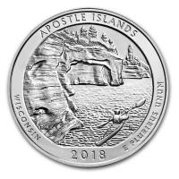 USA - 0,25 USD Wisconsin Apostle Islands 2018 - 5 Oz Silber