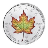 Kanada - 5 CAD Maple Leaf 2018 - 1 Oz Silber Color