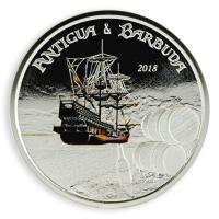 Antigua und Barbuda - 2 Dollar Rum Runner PP - 1 Oz Silber Color