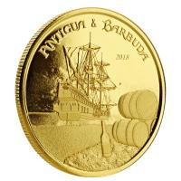 Antigua und Barbuda - 10 Dollar Rum Runner - 1 Oz Gold