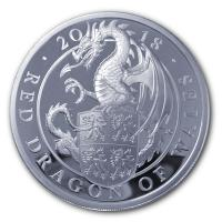 Großbritannien - 2 GBP Queens Beasts Red Dragon 2018 - 1 Oz Silber PP