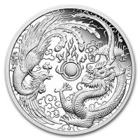 Australien - 1 AUD Dragon & Phönix 2018 - 1 Oz Silber Proof