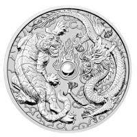 Australien - 1 AUD Dragon & Tiger 2018 - 1 Oz Silber