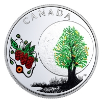 Kanada - 3 CAD Weisheiten: Strawberry Moon - Silber Proof