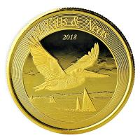 St. Kitts und Nevis - 10 Dollar Brauner Pelikan - 1 Oz Gold