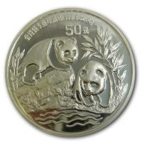 China - 50 Yuan Panda 1991 - 5 Oz Silber PP