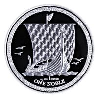 Isle of Man - 1 One Noble 2018 - 1 Oz Silber
