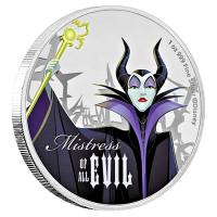 Niue - 2 NZD Disney Maleficent 2018 - 1 Oz Silber