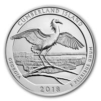 USA - 0,25 USD Georgia Cumberland Islands 2018 - 5 Oz Silber